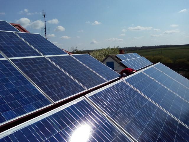 Сетевая солнечная электростанция в Украине