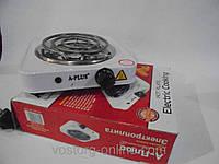 Практичная электроплита, плита без духовки, электроплита A-Plus 2101, А-Плюс 2101,одноконфорочная электроплита