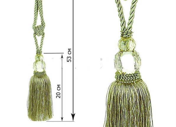 """Декоративные кисти для штор """"Шелли"""",зеленые (пара), фото 2"""