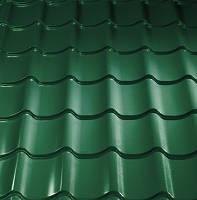 "Металлочерепица "" Монтеррей"" толщина 0,4 мм.,цвет RAL 6005(зелёный), металл производства Украины"