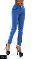 Брюки женские летние с карманами - Голубые
