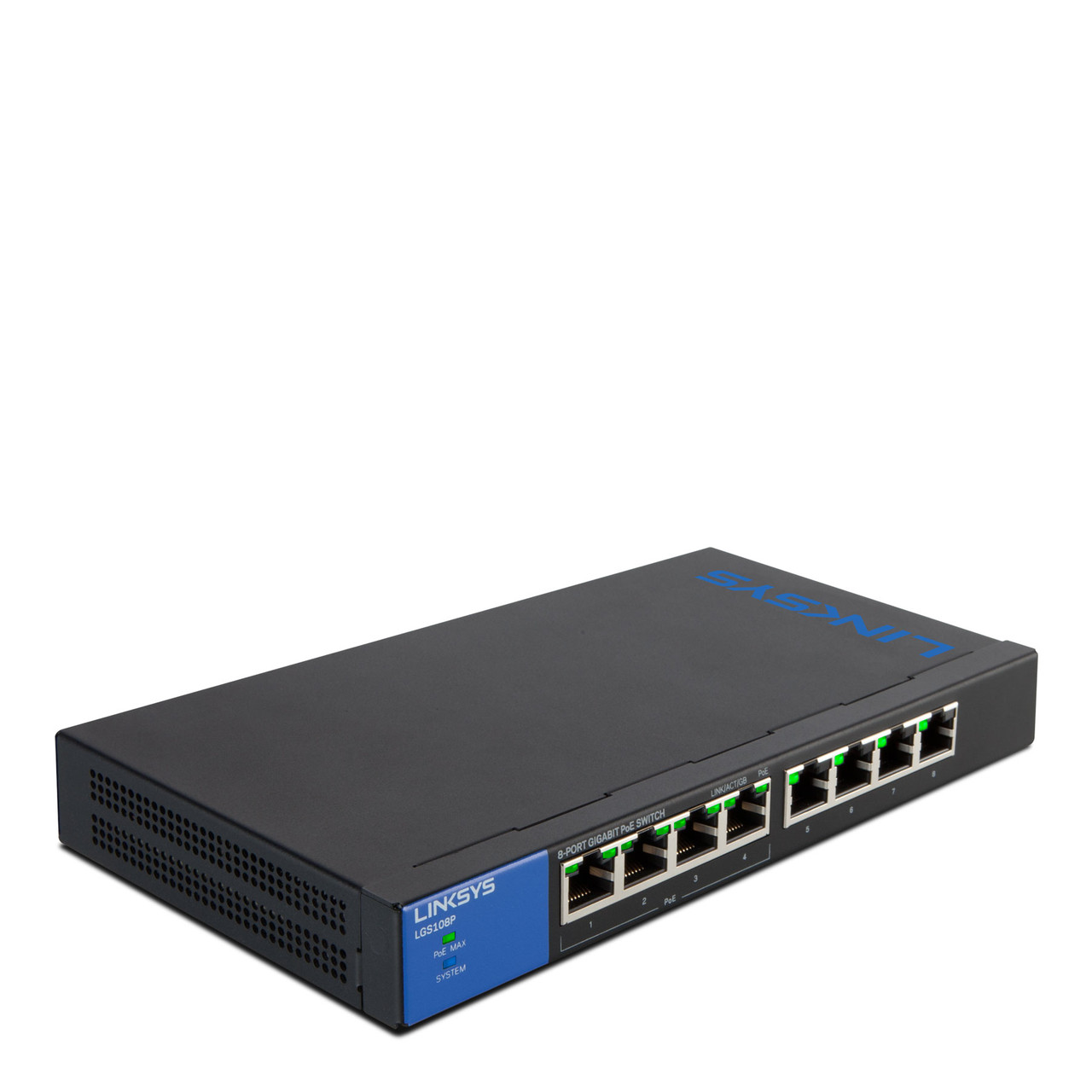 LINKSYS LGS108P-eu SWITCH, POE, GIGABIT, UNMANAGED, 8-PORT