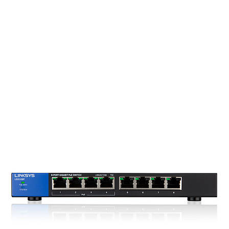 LINKSYS LGS108P-eu SWITCH, POE, GIGABIT, UNMANAGED, 8-PORT, фото 2
