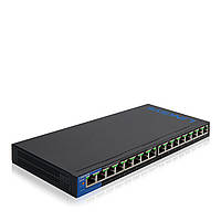 Коммутатор LINKSYS LGS116P-eu SWITCH, POE, GIGABIT, UNMANAGED, 16-PORT неуправляемый