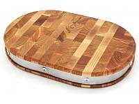 Доска разделочная деревянная, овальная 30*20 см 22522 Krauff