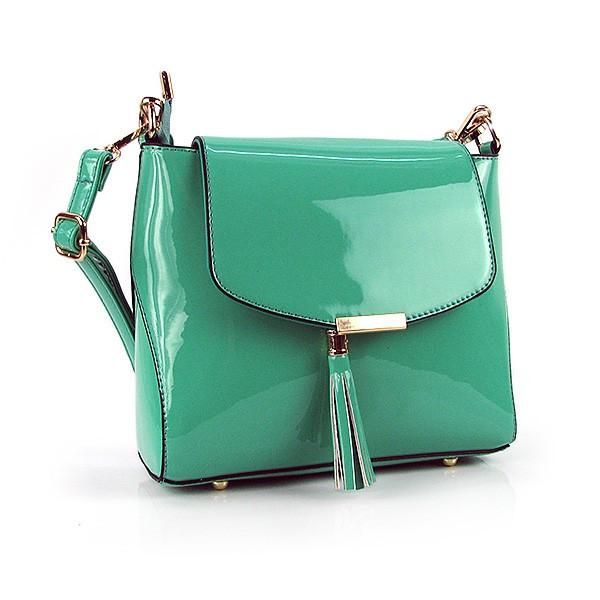 6c4f06d957f1 Бирюзовая лаковая сумочка маленькая с клапаном - Интернет магазин сумок  SUMKOFF - женские и мужские сумки