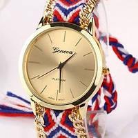 Часы Geneva фенечка (red) - гарантия 6 месяцев