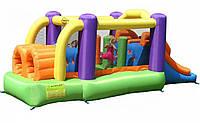 """Детский надувной батут """"Полоса препятствий"""" 9063, горка, препятствие, туннель, батут, стена"""