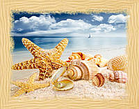 Частичная вышивка бисером Идейка Сокровища моря (ВБ1037) 30 х 40 см