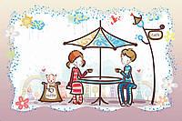 Картина из бисера Идейка Первое свидание (ВБ2027) 20 х 30 см