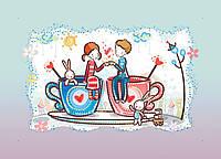 Набор для вышивки бисером Идейка Кофейная любовь (ВБ2029) 20 х 30 см