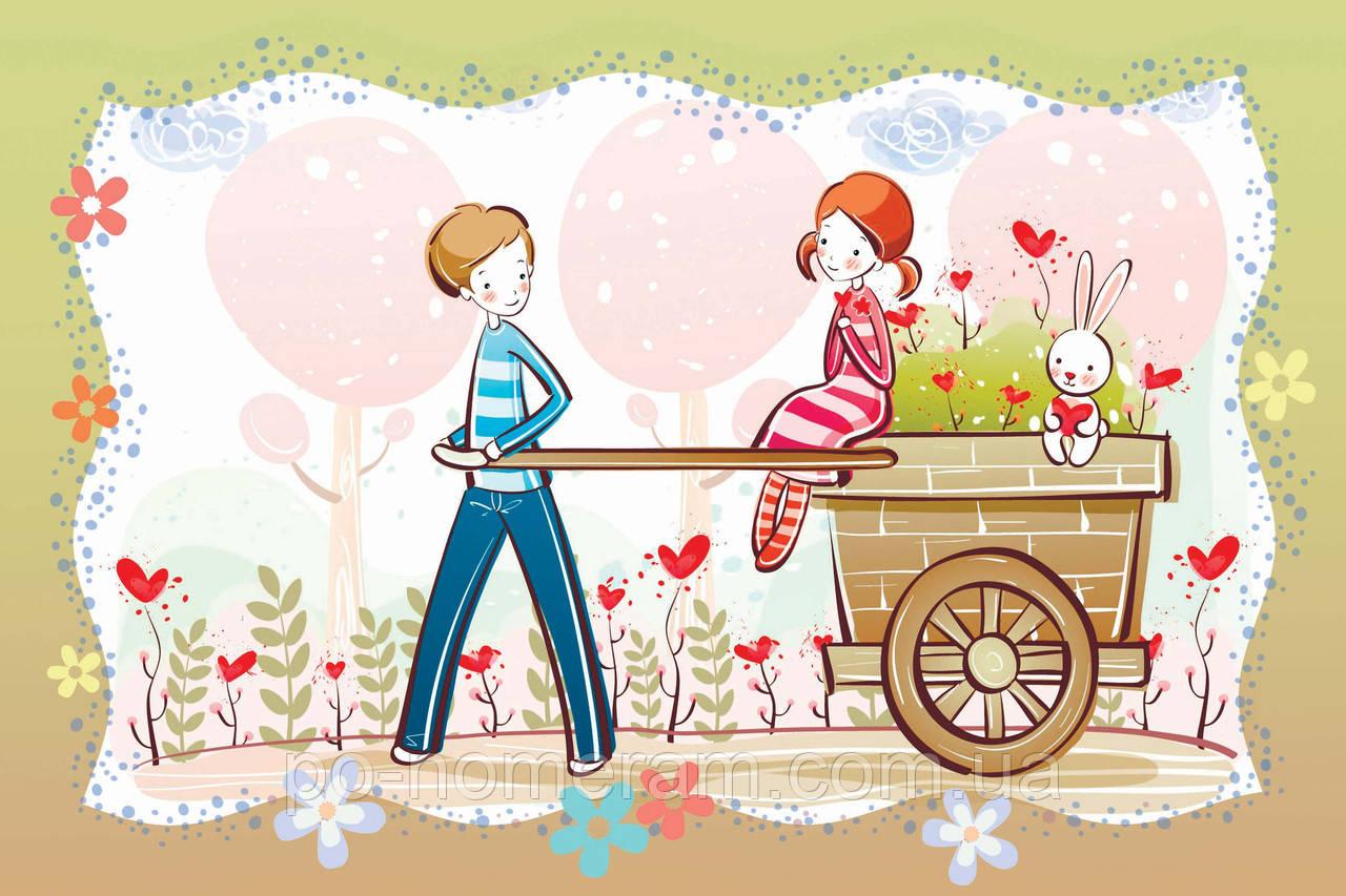 Картина бисером в рамке Идейка Сад любви (ВБ2034) 20 х 30 см