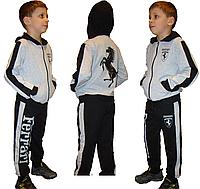 Детский спортивный костюм Ferrari для мальчиков из трикотажа хорошего качества