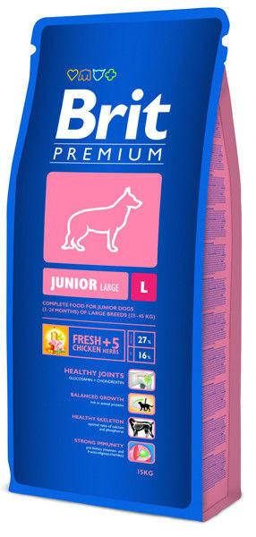 Корм для щенков и молодых собак крупных пород Brit Premium Junior Large Breed