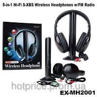 Беспроводные наушники с Микрофоном 5 в 1 +FM радио, фото 1