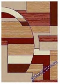 """Синтетический прямоугольный ковер """"Мозаика""""  Lotos Karat , цвет бежево-красный"""