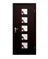 Двери межкомнатные Новый стиль Фора венге 3d ПО+Р1