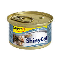 Консервы Gimpet Shiny Cat Tuna Shrimp для кошек с креветками и кусочками тунца, 70 г