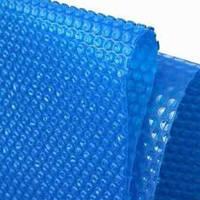 Солярная пленка для бассейна 400 микрон - теплосберегающая синяя - ширина 3 м
