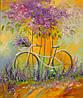 «Мой велосипед» картина маслом