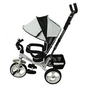 Велосипед трехколесный с ручкой для мамы детский  на 1, 2, 3 года