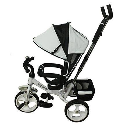 Велосипед трехколесный с ручкой для мамы детский  на 1, 2, 3 года, фото 2
