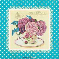 Набор для вышивки бисером Идейка Розы шебби шик (ВБ1030) 30 х 30 см
