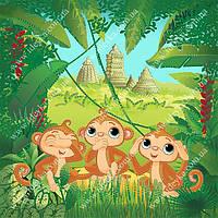 Вышивка бисером Идейка Три обезьянки (ВБ1052) 30 х 30 см
