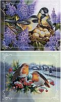 Набор для вышивки бисером Идейка Пара птиц № 2       (Две картины в наборе) (ВБ2001) 2 х 20 х 24 см