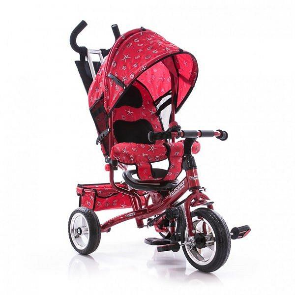 Велосипед трехколесный с ручкой для мамы детский Turbo Trike