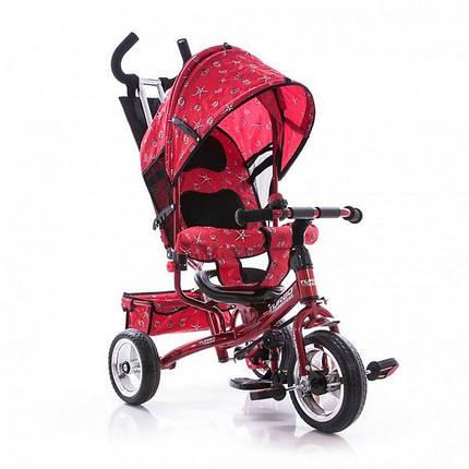 Велосипед трехколесный с ручкой для мамы детский Turbo Trike , фото 2