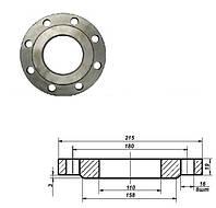 Фланец плоский стальной Ду 100 мм Ру 10 атм
