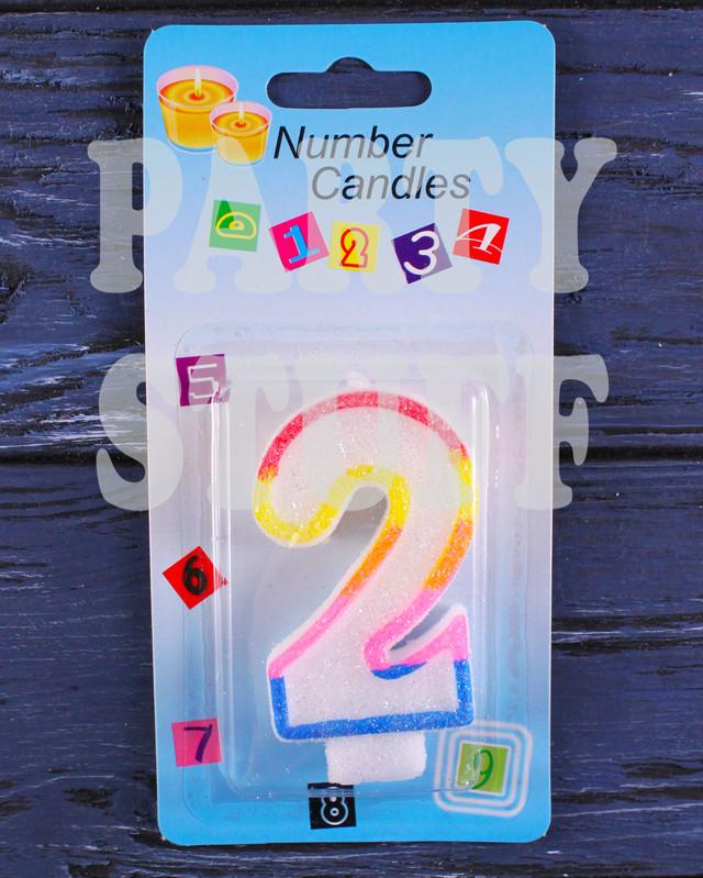 Свеча для торта цифры 2