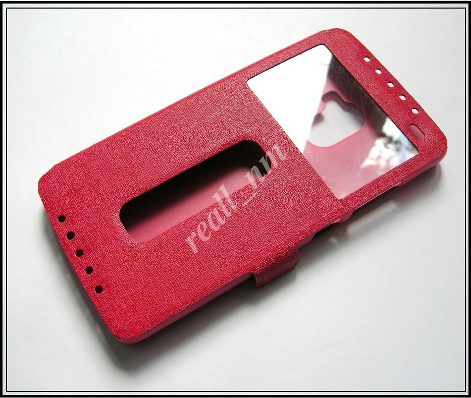 Красный чехол-книжка DW Case для смартфона Lenovo A7010, Lenovo X3 lite