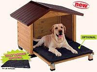Будка деревянная для собак CANADA 4 FERPLAST (Канада Ферпласт) с открывной стенкой, 110*69,5*78 см