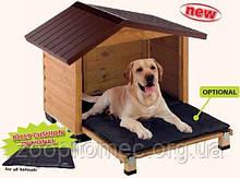 Будка дерев'яна для собак CANADA 4 FERPLAST (Канада Ферпласт) з открывной стінкою, 110*69,5*78 см
