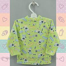 Кофточка для Мальчика тонкая, 3-8 мес, новорожденным, Хлопок-Кулир, 0526Kay В наличии 62,68,74 Рост, фото 3