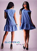 Коттоновое платье для летнего отдыха