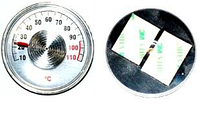 Термометр осевой 0-110° ТБ-04 на клейкой основе