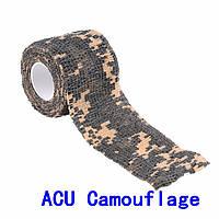 Лента камуфляжная ACU CAMOUFLAGE эластичная  для камуфлирования оружия, оптики