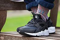 Мужские кроссовки Nike Air Huarache Black/White (40-45 Размер)(ТОП РЕПЛИКА ААА+), фото 1