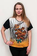 Нарядная футболка с красивыми летними цветами