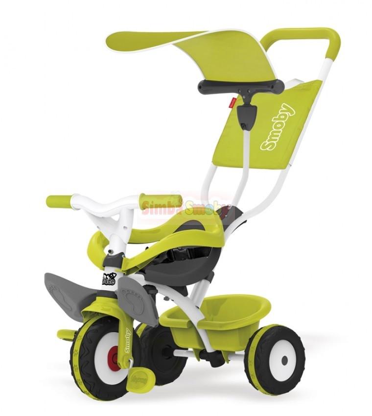 Детский 3-х колесный металлический велосипед с козырьком(ЗЕЛЕНЫЙ) SMOBY 444192