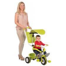 Детский 3-х колесный металлический велосипед с козырьком(ЗЕЛЕНЫЙ) SMOBY 444192, фото 2