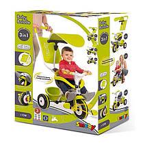 Детский 3-х колесный металлический велосипед с козырьком(ЗЕЛЕНЫЙ) SMOBY 444192, фото 3