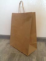 Бумажный пакет с ручками 320*150*380 бурый, фото 1