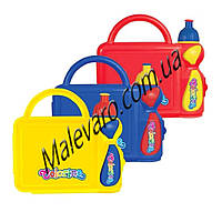 Набор 2в1-ланч-бокс (бутербродница) и бутылочка для воды  (поилка), 250 мл, экологичный пластик
