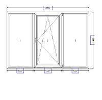 Металлопластиковые окна 2000*1400, фото 1