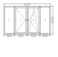 Металлопластиковая лоджия 2650*1600, фото 1