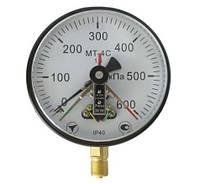 Манометр МТ-4С электроконтактный, сигнализирующий вакуумметр, мановакуумметр МТ-4С, ЭКМ-160